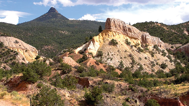 "Abiquiu, NM Rock Formations featured on ""Veritas, In the Land of Enchantment"" DVD and Blu-ray"